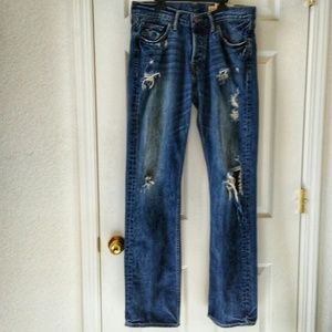 HOLLISTER Balboa Distressed Destroyed Jeans Mens